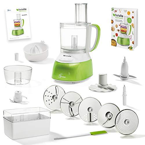 feelvita Genius Feelvita Food Processor   20 Teile   Küchenmaschine   14 Funktionen   Zerkleinerer   Bekannt aus TV   NEU