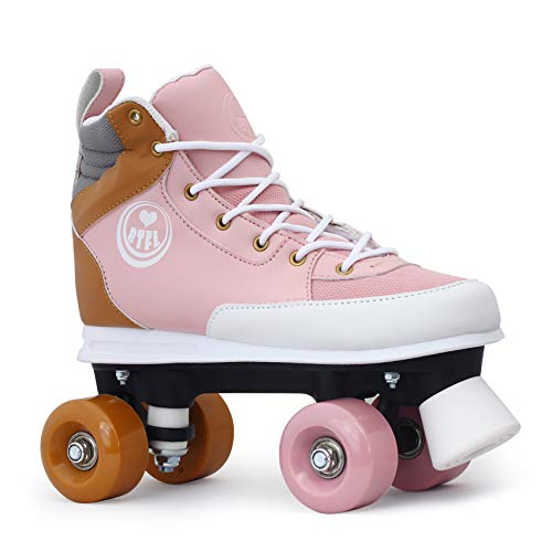 BTFL Rollschuhe Rosa Girlie für Mädchen,Retro-Rollschuhe,Dance-Roller,Rollerskates,rosa,EU 35