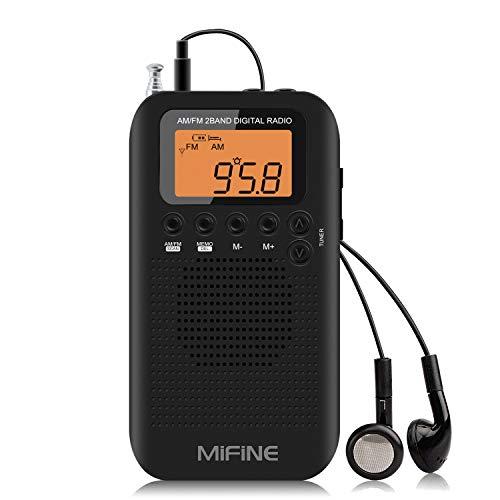 Pocket Portable AM FM Radio Rech...