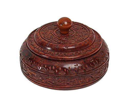 Store Indya, Authentic Indian Spice Box indienne Masala Dabba main d?coup?e du Rosewood Storage & organisation