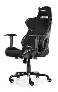 Arozzi TORRETTA-BK Gaming Stuhl, Lederimitat, schwarz, 53 x 54 x 129 cm