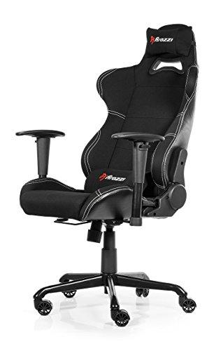 Arozzi TORRETTA-BK Gaming Stuhl, Lederimitat, schwarz,...