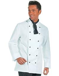 LEIBER Koch-Jacke - langarm - Lieferung ohne Knöpfe - weiß - Größe: 56