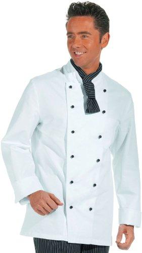 LEIBER Koch-Jacke - langarm - Lieferung ohne Knöpfe - weiß - Größe: 52