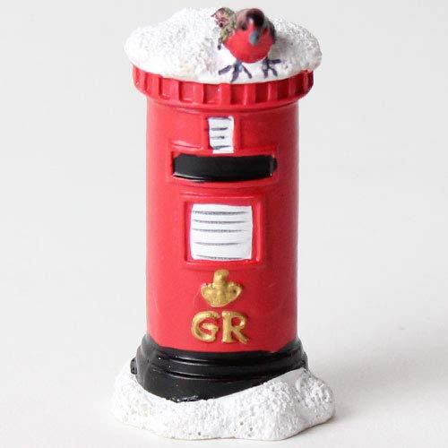 Anniversary House : Weihnachten Tortendekorationen : Ein Rotkehlchen auf einem Briefkasten-Kuchendekoration und eine goldene Frohe Weihnachten Kuchen Dekoration Anniversary House Ltd