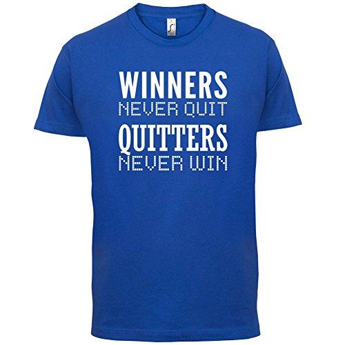 Winners Never Quit - Herren T-Shirt - 13 Farben Royalblau