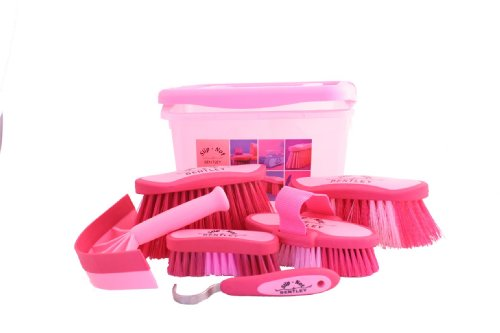 equestrian-horse-grooming-cleaning-brush-set-horse-grooming-brushes-kit-pink