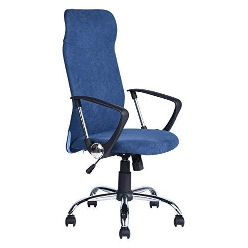 Aingoo Bürostuhl Schreibtischstuhl Chefsessel mit Armlehnen Kopfstütze Bürosessel mit Netzrücken Jugenddrehstuhl Elegante Stuhl Ergonomisch Höhenverstellbar Stuhl In Blau