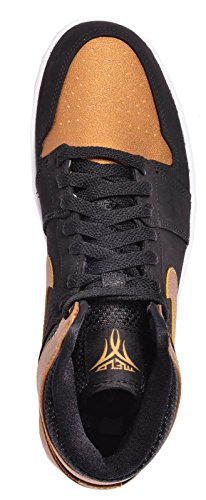 Nike - Air Jordan 1 Retro High, Scarpe sportive Uomo black/metallic gold-white