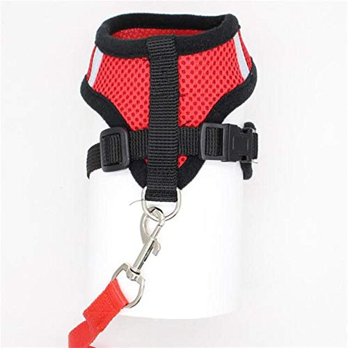PENVEAT Adjustable Ling Chong Pet Dog Leads Chest Straps Small Pet Basic Halter Harnesses for Dog Pet 4 Colorful S~L Dropshipping,red,M,China -
