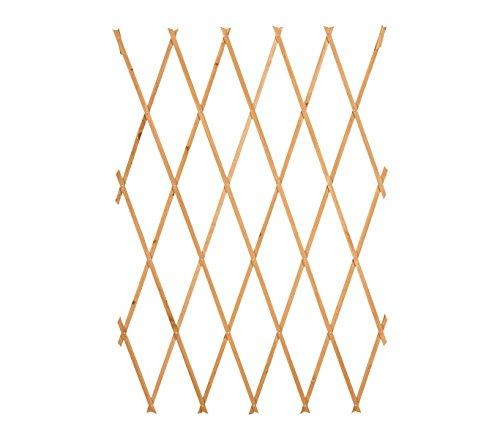 Mediawave store traliccio in legno grigliato estensibile 434020 da 180x60 cm welkhome per piante