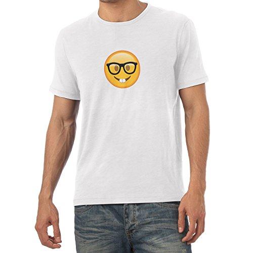 TEXLAB - Nerd Emoji - Herren T-Shirt Weiß