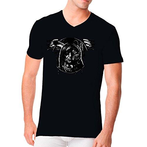 Im-Shirt - Wolf Dream Spirit cooles Fun Men V-Neck - verschiedene Farben Schwarz