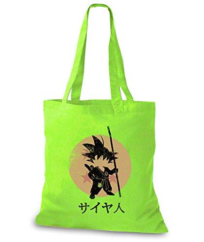 StyloBags Jutebeutel / Tasche Vintage Goku Lime
