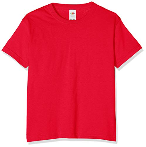 Fruit of the Loom Jungen T-Shirt, Rot, 14-15 Jahre (164)