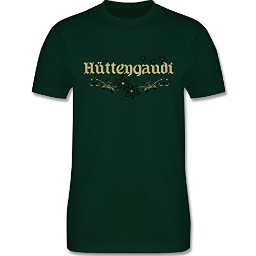 Après Ski - Hüttengaudi - Herren Premium T-Shirt Dunkelgrün