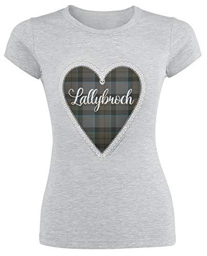 emp outlander Outlander Lallybroch Love Girl-Shirt grau meliert L