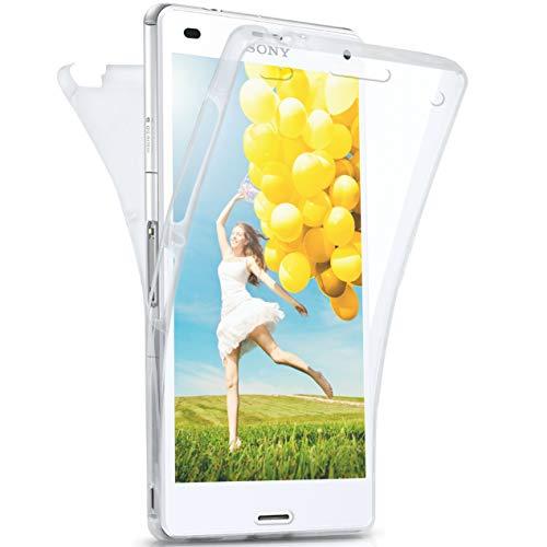 moex Sony Xperia Z3 | Hülle Silikon Transparent 360 Grad Double Side Cover Dünne Schutzhülle Slim Handyhülle für Sony Xperia Z3/Z3 Dual Case Transparent Silikonhülle TPU