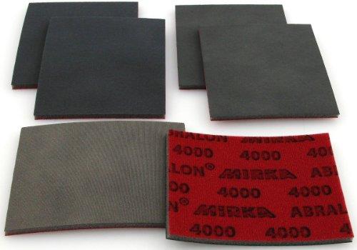 Preisvergleich Produktbild Abralon Schleifpad 6er Set 1 je 2x Körnung 1000 / 2000 / 4000 für Modellbau