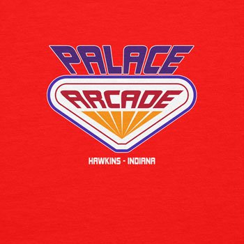 NERDO - Hawkins Palace Arcade - Damen Kapuzenpullover Rot