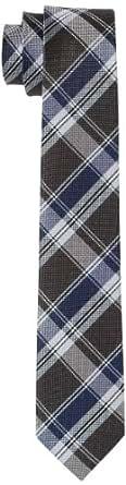 Schwarze Rose Herren Krawatte 171105, Gr. one size, Blau (12 Karo blau)