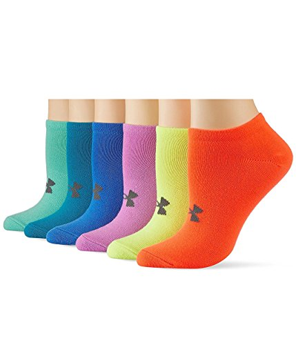 Under Armour Girls' Solid Noshow Socks (Pack of 6)