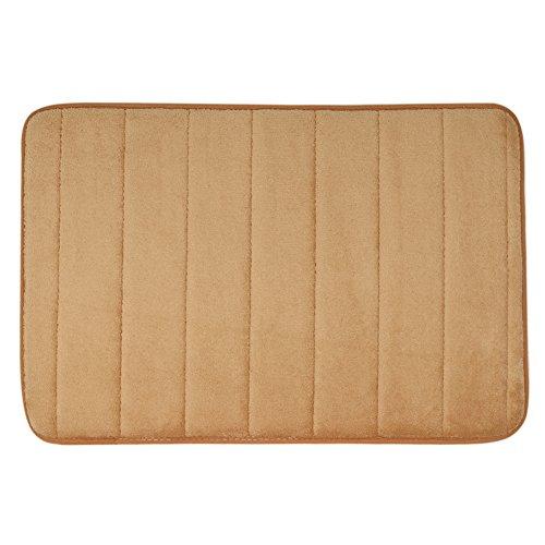 YTAT antiscivolo morbidi tappeti tappetino antiscivolo per bagno, cucina, soggiorno, bagno tappeto per sicurezza del bambino per bambini con Memory Foam corallo velluto tessuto. Circa. 40 * 60cm (cachi)