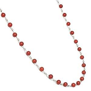 Collier en corail pour femme korallenkette halscollier collier rouge