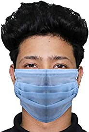 Thump TH0002 3 Ply Non Surgical Disposable Face Mask with Nose Pin 25 GSM Bacterial Filtration Efficiency(BFE)