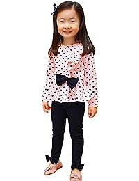 Covermason Bebé Niña Círculo Impresión Camiseta y Lindo Pantalones (1 Conjunto)