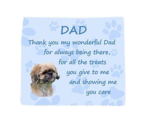 Starprint Sublimation Shih Tzu 'Thank You Dad' Mikrofasertuch für Brille, lustiges Geschenk zum Vatertag oder Geburtstag