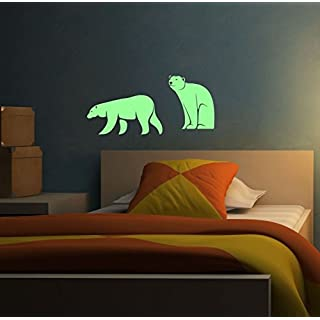ABCUV Wall Decal Glow in the Dark Polar Bears Stickers
