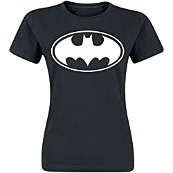 Batman Logo Camiseta Mujer Negro L