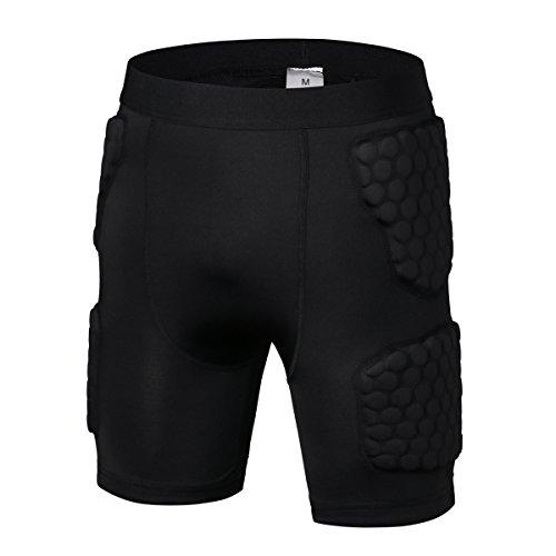 R & V Hombres Ropa Deportiva de Choque Guardia de erupción compresión Acolchado Protector Camiseta Pantalones Traje para fútbol Baloncesto Parkour Ejercicio, Hombre, Color Pants, tamaño XX-Large