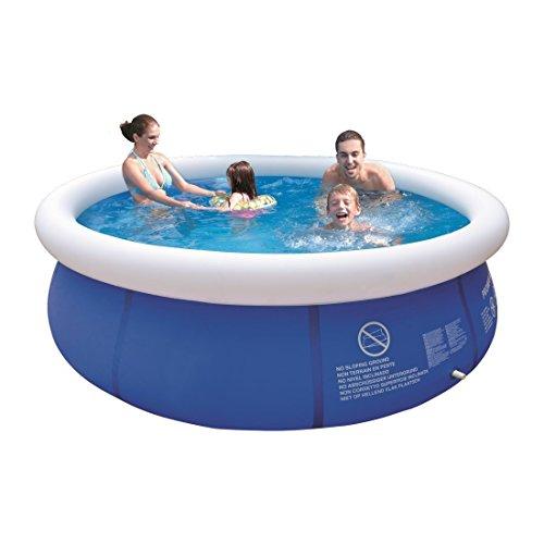Invero Kinder Erwachsene Outdoor Garten Schnell Prompt Set Swimmingpool 2474 Liter Wasserkapazität 80% gefüllt Durchmesser 240 x 63 cm -