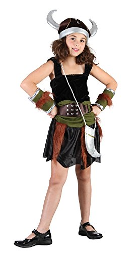 Theme Fancy Dress Disfraz de niña de Vikinga Nórdica. 10-13 años