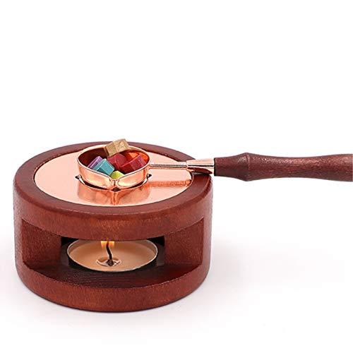 Artlalic Wax Seal kit, sigillo di cera calda fusione cucchiaio kit cera bastoncini di cera Beads Furnace strumento per sigillare cera timbro con stufa