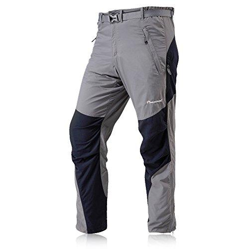 montane da uomo, gamba corta pants-graphite, X-Large Grigio