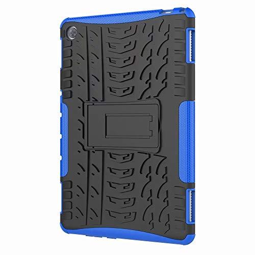 Dedux Hülle Für Samsung Galaxy Tab S5e 10.5 T720/T725 [Dual Layer Armour Series] Anti-Scratch PC Rückwand Schale + Stoßfeste TPU Innenschutzabdeckung + Faltbarer Halterungen.blau T720 Serie