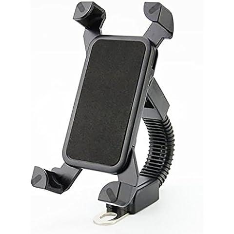 SHiZAK ajustable soporte giratorio para teléfono Universal Motocicleta ATV Scooter Ciclomotor Espejo retrovisor Soporte para iPhone 6S/6/5S/4S/GPS/Samsung S7/S6/Edge