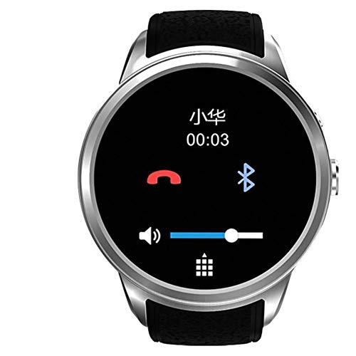 ZKKZ Intelligente Uhr WiFi Erwachsene Telefon-Uhr wasserdichter Viererkabel-Kern-Android-Studenten-Karten-runder Bildschirm-Geschenk-Uhr (Farbe : Silber grau)