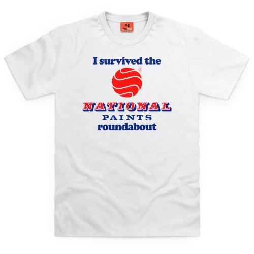 National Paints T-shirt, Uomo Bianco