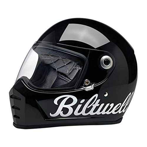 Casco Integrale Lane Splitter Biltwell Gloss Black Factory Nero Lucido OMOLOGATO Doppia OMOLOGAZIONE ECE (Europa) & DOT (America) Helmet Biker Custom Vintage Retrò Anni 70 Off-Road Street Taglia S