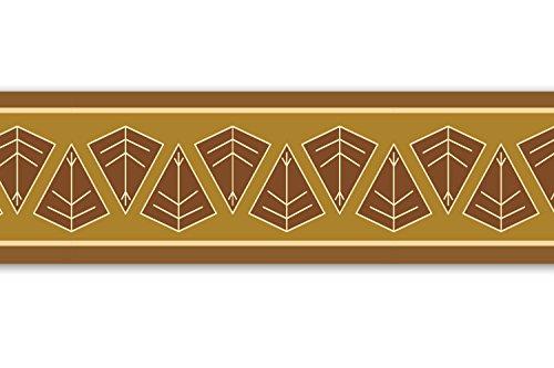 Vliesbordüre 'Afrikanisches Schild', 520x15cm, Tapetenbordüre, Wandbordüre, Borte, Wanddeko,Africa, braun