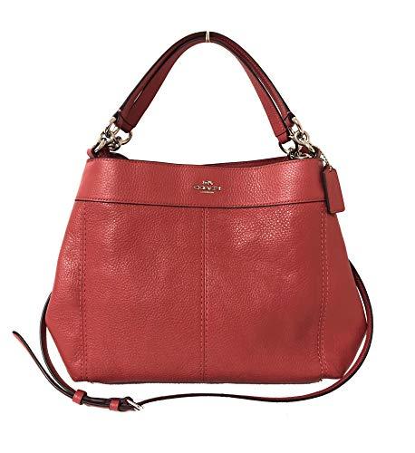 Coach Lexy Schultertasche/Handtasche aus Pebbled Leder, klein, Rot (Sv/Washed Red), Small (Hat Coach)