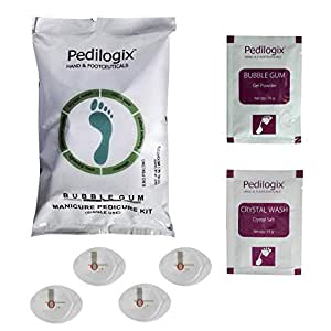 Pedilogix Bubblegum Manicure Pedicure Kit For Hand And Feet Lightning, Softening And Massage (57g)