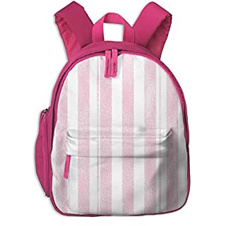 Childrens Backpack for Girls,Stripes Unicorn Quilt Nursery Fabric Pink_4353-charlottewinter,for Children's Schools Oxford Cloth (Pink)