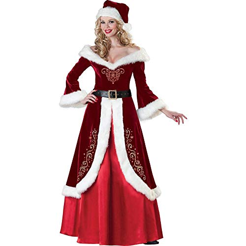Weihnachten Weihnachten Kostüm Weihnachten Queen Party Kostüm Weihnachten Kostüm Bühne Kleid Hat, Red, One Size (Red Queen Kostüm Muster)