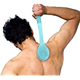 Ekan Bath Brush Back Scrubber with Medium Soft Bristles and Long Handle, Bath Accessories For Home, 15 Gram Pack of 1
