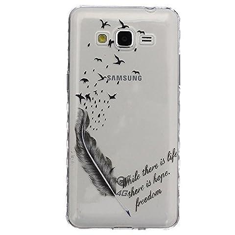 HUANGTAOLI Housses et étuis Protecteur TPU Gel Silicone Coque Cover pour Samsung Galaxy Grand Prime Value Edition(SM-G531,SM-G531F)